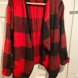 Sweaters - Black and red jacket size medium new without tags